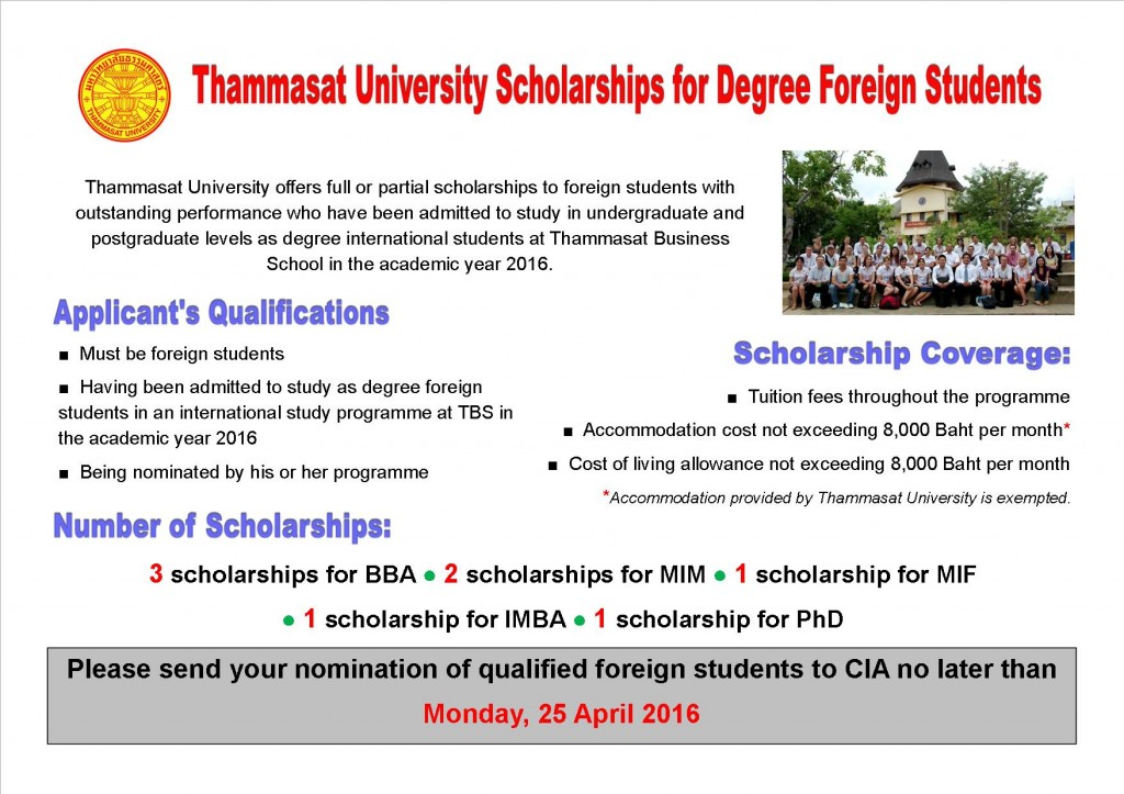 TU Scholarships for Foreign Students Ad (1)